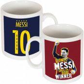 Barcelona Mugg Messi Ballon dOr Lionel Messi Vit