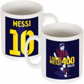 Barcelona Mugg Messi Record 400 Goals Lionel Messi Vit