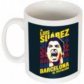 Barcelona Mugg Suarez Portrait Luis Suarez Vit