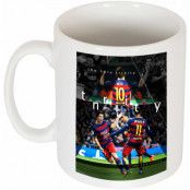 Barcelona Mugg The Holy Trinity Neymar Vit