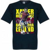Barcelona T-shirt Legend Xavi Hernandez Legend Xavier Hernandez i Creus Mörkblå S