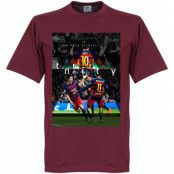 Barcelona T-shirt The Holy Trinity Lionel Messi Rödbrun S