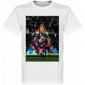 Barcelona T-shirt The Holy Trinity Lionel Messi Vit XS