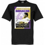 Real Madrid T-shirt Ronaldo 4 Times Ballon DOr Winners Madrid Barn Cristiano Ronaldo Svart 2 år