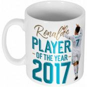 Real Madrid Mugg Ronaldo 2017 Player of the Year Vit