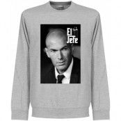 Real Madrid Tröja Zidane El Jefe Sweatshirt Zinedine Zidane Grå S