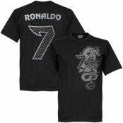 Real Madrid T-shirt Cristiano Ronaldo 7 Dragon Svart XS