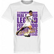 Real Madrid T-shirt Legend Morientes Legend Vit XS