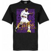 Real Madrid T-shirt Legend Roberto Carlos Legend Svart XS