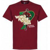 Real Madrid T-shirt Ronaldo 2013 World Player Of The Year Cristiano Ronaldo Rödbrun S