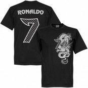 Real Madrid T-shirt Ronaldo No7 Dragon Cristiano Ronaldo Svart XXL