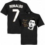Real Madrid T-shirt Ronaldo Player of the Year Cristiano Ronaldo Svart XXL