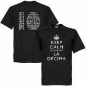 Real Madrid T-shirt Winners Keep Calm Ya Tenemos La Decima Svart XS