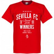 Sevilla T-shirt 2015 2016 Europa League Winners Röd XS