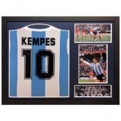 Argentina Signerad Fotbollströja Mario Kempes
