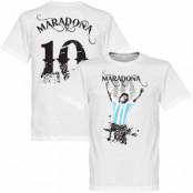Argentina T-shirt Maradona 10 Barn Diego Maradona Vit 2 år