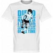 Argentina T-shirt Maradona Legend Barn Diego Maradona Vit 2 år