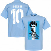 Argentina T-shirt Messi 10 Flag Lionel Messi Ljusblå XS