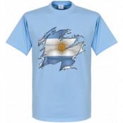 Argentina T-shirt Ripped Flag Ljusblå XS