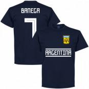 Argentina T-shirt Banega 7 Team Mörkblå S
