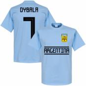 Argentina T-shirt Dybala 7 Team Paulo Dybala Ljusblå XS