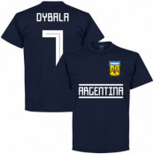Argentina T-shirt Dybala 7 Team Paulo Dybala Mörkblå S