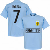 Argentina T-shirt Dybala Team Paulo Dybala Ljusblå XS