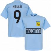 Argentina T-shirt Higuain Team Gonzalo Higuain Ljusblå XS