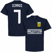 Argentina T-shirt Icardi 7 Team Jamie Vardy Mörkblå S