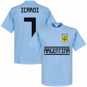 Argentina T-shirt Icardi 7 Team Ljusblå XS