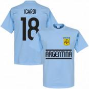 Argentina T-shirt Icardi Team Ljusblå XS