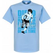 Argentina T-shirt Legend Maradona Legend Diego Maradona Ljusblå XS