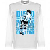 Argentina T-shirt Legend Maradona Legend Long Sleeve Diego Maradona Vit S