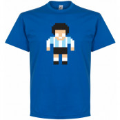 Argentina T-shirt Maradona Legend Pixel Player Diego Maradona Blå S