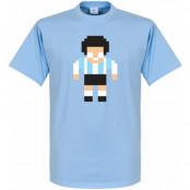 Argentina T-shirt Maradona Legend Pixel Player Diego Maradona Ljusblå XS