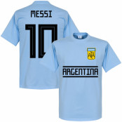 Argentina T-shirt Messi 10 Team Lionel Messi Ljusblå XS