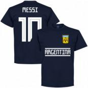 Argentina T-shirt Messi 10 Team Lionel Messi Mörkblå S