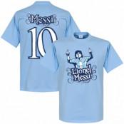 Argentina T-shirt No10 Tee Lionel Messi Ljusblå XS