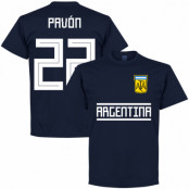 Argentina T-shirt Pavon 22 Away Team Mörkblå S