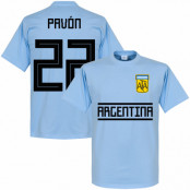 Argentina T-shirt Pavon 22 Team Ljusblå XS