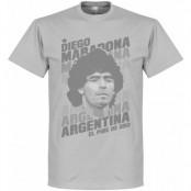 Argentina T-shirt Portrait Diego Maradona Grå S
