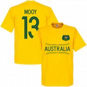 Australien T-shirt Mooy 13 Wordmark Gul XS