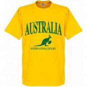 Australien T-shirt Rugby Gul XS