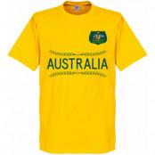 Australien T-shirt Team Barn Gul 2 år