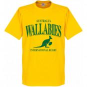 Australien T-shirt Wallabies Rugby Barn Gul 2 år