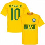 Brasilien T-shirt Brazil Jr 10 Team 10 Barn Neymar Gul 2 år