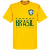 Brasilien T-shirt Brazil Team Barn Gul 2 år