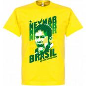 Brasilien T-shirt Portrait Barn Neymar Gul 2 år