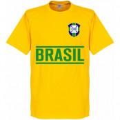 Brasilien T-shirt Team Barn Gul 2 år