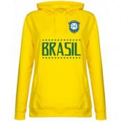 Brasilien Huvtröja Brazil Team Dam Gul XS